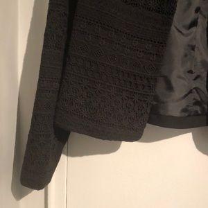 H&M Lace Cotton Black Blazer